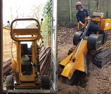 narrow-access-stump-removal-in-guildford